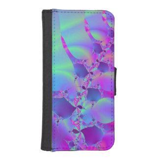 Blue And Pink Bubble Fractal iPhone SE/5/5s Wallet Case