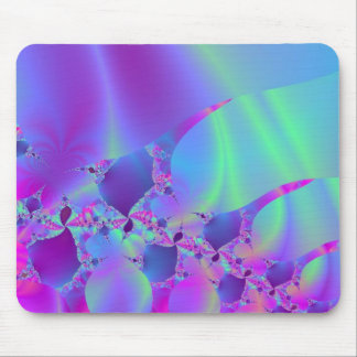 Blue And Pink Bubble Fractal Mouse Mat