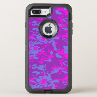 Blue and Pink Camo OtterBox Defender iPhone 8 Plus/7 Plus Case