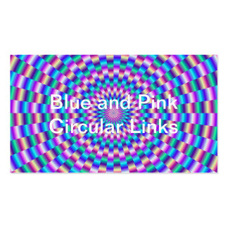 Blue and Pink Circular Links Business Card