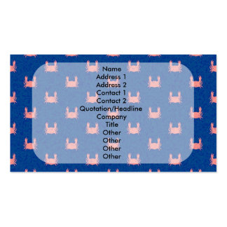 Blue and Pink Crab Pattern Pack Of Standard Business Cards
