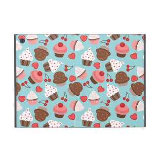 Blue And Pink Cupcakes, Hearts And Cherries iPad Mini Cover