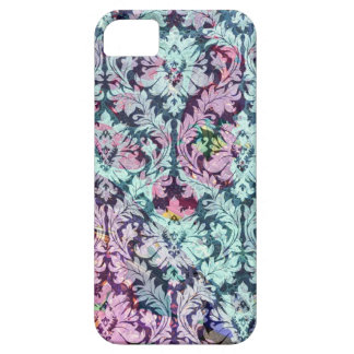 Blue and Pink Damask Case For The iPhone 5