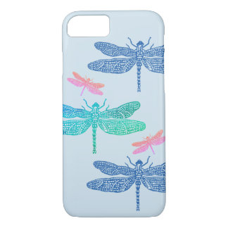 Blue and Pink Dragonfly iPhone Case