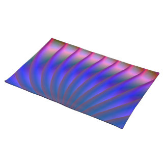 Blue and Pink Fan American MoJo Placemats