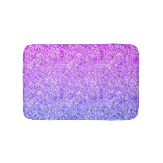 Blue And Pink Glitter Bath Mat
