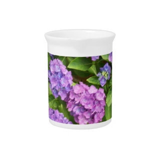 Blue and Pink Hydrangea Pitcher