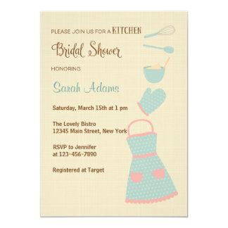 Blue and Pink Kitchen Bridal Shower Invitation