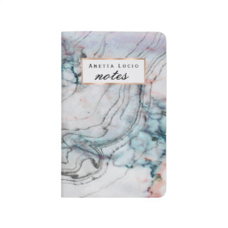 Blue and Pink Marble Pocket Journal