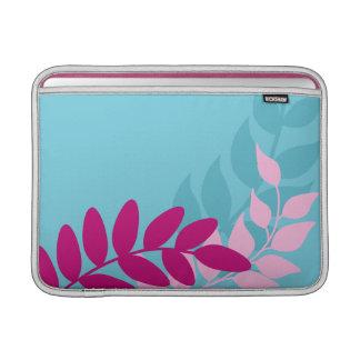 Blue and Pink Mod Vines Macbook Air Sleeve