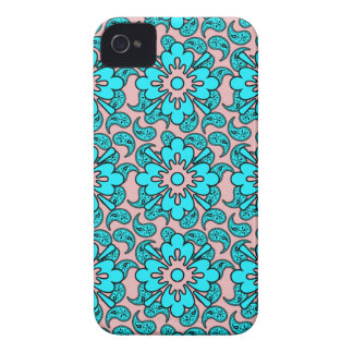 Blue And Pink Paisley Phone Case Case-Mate iPhone 4 Cases