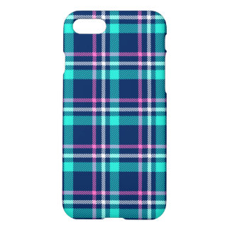 Blue and pink plaid iPhone 7 case