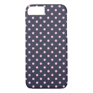 Blue And Pink Polka Dot Pattern iPhone 8/7 Case