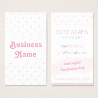 Blue and Pink Polka Dots Business Card