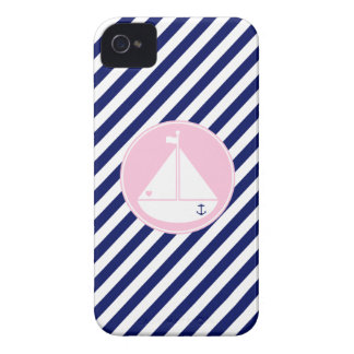 Blue and Pink Sailboat iPhone 4 Cover