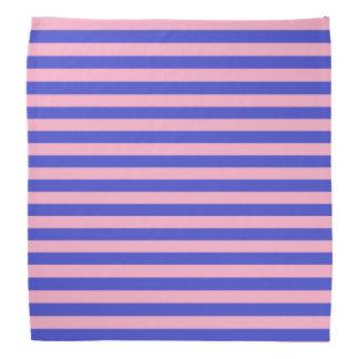 Blue and Pink Stripes Bandana