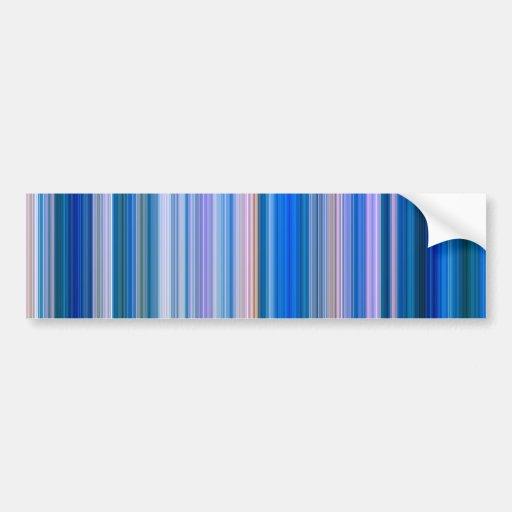 Blue and Pink Stripes Bumper Sticker