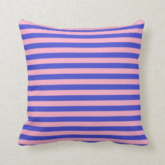 Blue and Pink Stripes Cushion
