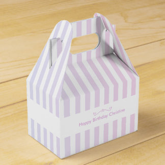 Blue and Pink Stripes Favour Box