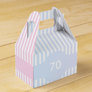 Blue and Pink Stripes Template Favour Box