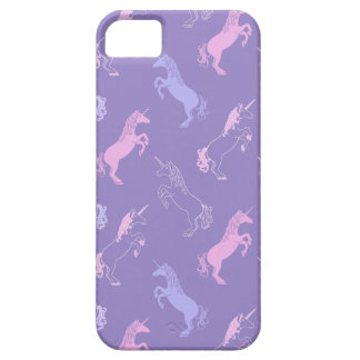 Blue and Pink Unicorns on Purple Phone Case