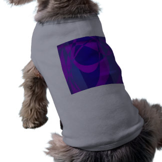 Blue and Purple Abstract Dark Pet Tee