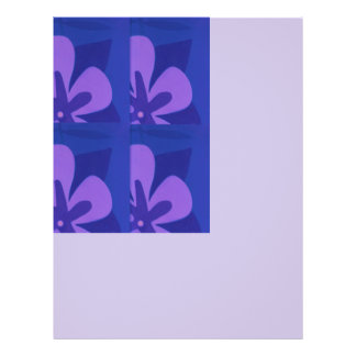 Blue And Purple Abstract Flower Pattern 21.5 Cm X 28 Cm Flyer