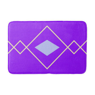 blue and purple argyle bath mat