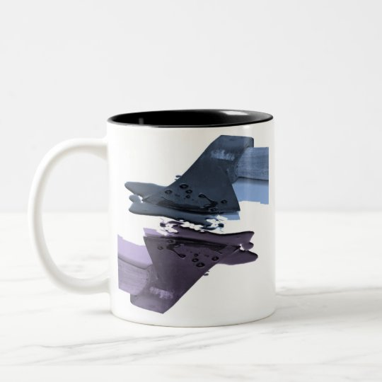 Blue and Purple Bloody Axe Two-Tone Coffee Mug