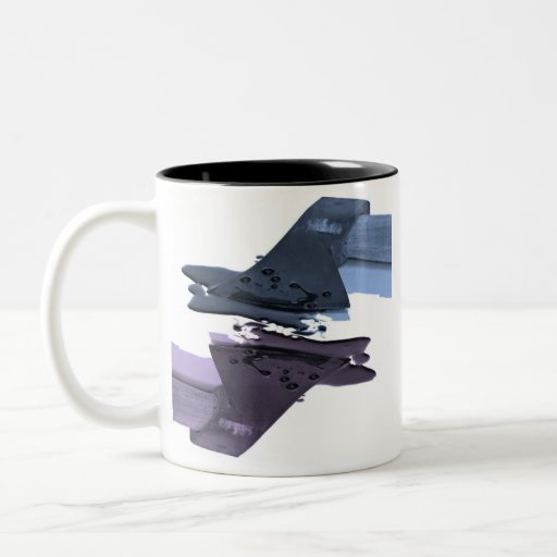 Blue and Purple Bloody Axe Two-Tone Mug