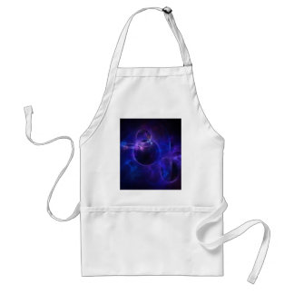 Blue and Purple Circles 1 Adult Apron