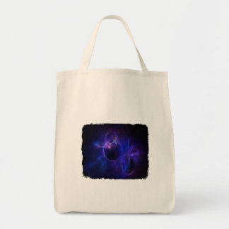Blue and Purple Circles 1 Canvas Bags