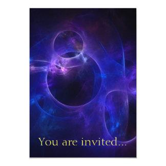 Blue and Purple Circles 13 Cm X 18 Cm Invitation Card