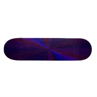 Blue and Purple Circular Patchwork Array 1 Skate Board Deck
