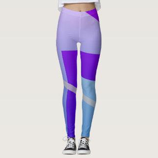 Blue and Purple Design Leggings