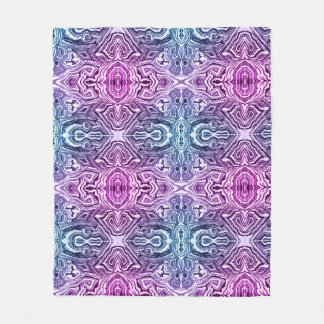 Blue and Purple Fleece Blanket