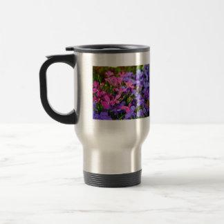Blue and purple flowers coffee mug
