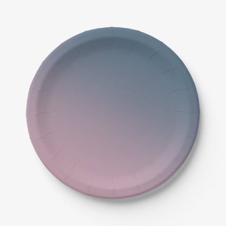 Blue and Purple Gradient Paper Plate