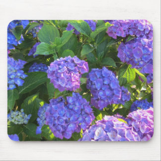 Blue and Purple Hydrangeas Mouse Mat