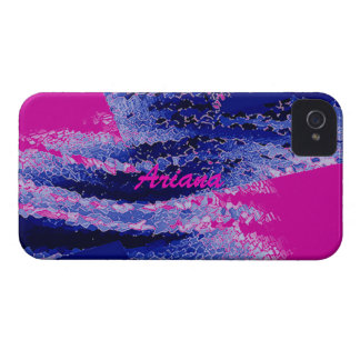 Blue and Purple iPhone 4 cover of Ariana