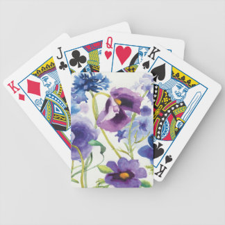 Blue and Purple Mixed Garden Bicycle Playing Cards
