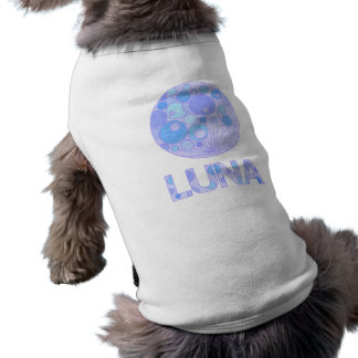 Blue And Purple Moon Luna Dog Shirt