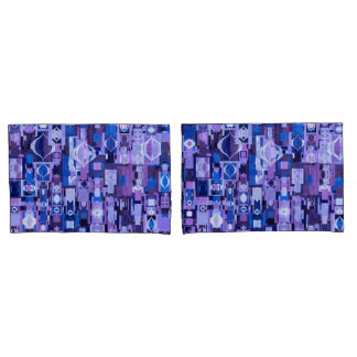 Blue and Purple Ornament Pattern Pillowcases