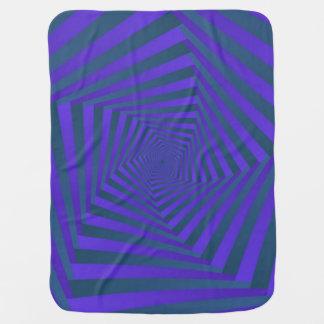 Blue and Purple Pentagon Spiral Baby Blanket