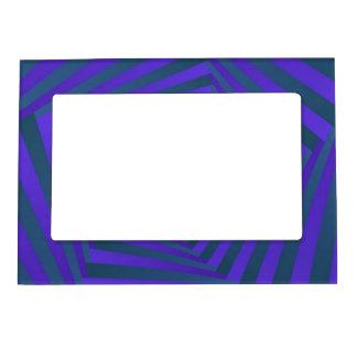 Blue and Purple Pentagon Spiral Magnetic Frame