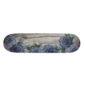 Blue and Purple Roses Skateboard Deck
