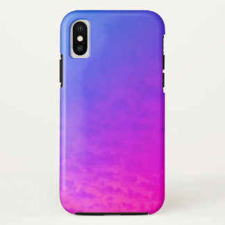 Blue and Purple Shades Abstract iPhone X Case