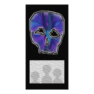 Blue and Purple Skull Photo Greeting Card