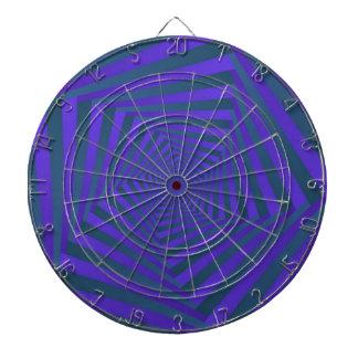 Blue and Purple Spiral Dartboard