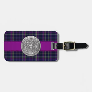 Blue and Purple Spirit of Scotland CMDS Tartan Tag For Bags